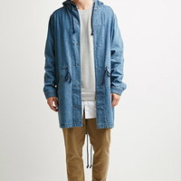 Hooded Denim Parka