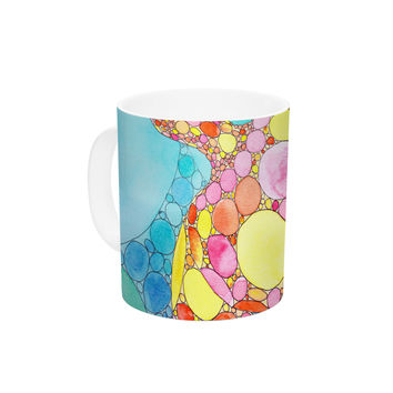 "Catherine Holcombe ""Circle Turtle"" Yellow Orange Ceramic Coffee Mug"
