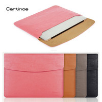 Cartinoe PU Leather Case for MacBook Air 11 13 Pro 15 Retina 12 inch Laptop Bag Sleeve Notebook Carry Bag for Macbook Case Pouch