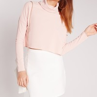Missguided - Scuba A-Line Mini Skirt White