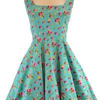 two scoops pinup sun dress - fruity cranberries print | le bomb shop