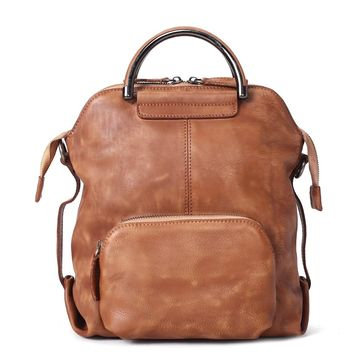 BLUESEBE HANDMADE FULL GRAIN LEATHER BACKPACK WF57