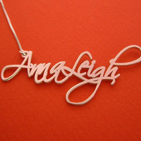 Handwriting Name Necklace Handwriting Necklace Custom Handwriting Necklace Free Hand Name Necklace Free Hand Necklace Signature Necklace