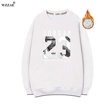 WZZAE 2017 New Fashion Jordan 23 Brand Hooded Men Streetwear Pullover Men Fleece Hoodies Hip Hop Men Tracksuits Sweatshirt