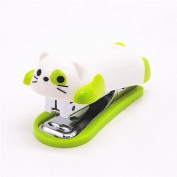 1pcs mini kitten  stapler cartoon office school supplies stationery paper clip Binding Binder book sewer