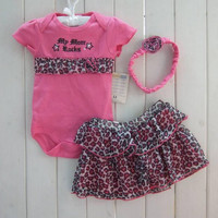 Free Shipping Newborn Infant Baby Girl Polka Dot Headband+Romper+TUTU Outfit Clothes