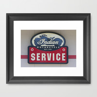 Indian Motorcycle Service Framed Art Print by Veronica Ventress