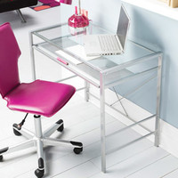 Walmart: Mainstays Glass-Top Desk, Multiple Colors