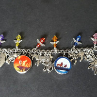 Disney the lion king themed snap button charm bracelet