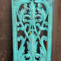 Beautiful ornate wall hanging // Aqua decor // Ornate // wall decor  // living room decor // bedroom decor // bathroom decor