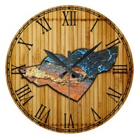 Corroded Heart Pattern Wallclock