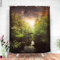 I miss you so much  - Shower curtain - Bathroom - Home decor - Bohemian - Original - Adventure - Wanderlust - Nature - Curtains - Unique.