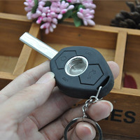 Free shipping Fashion Key shape Metal Pipe Smoking Pipe Magic Weed pipe With LED Light Smoke HX1024 Gift