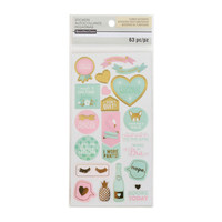 Uptown Chic Clear Word & Icon Stickers By Recollections™