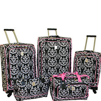 Jenni Chan Damask 5 Piece Spinner Luggage Set - eBags.com