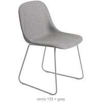 Fiber Side Chair Upholstered: Sled Base - A+R Store