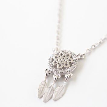 925 Dreamcatcher Necklace