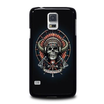 affliction indian skull samsung galaxy s5 case cover  number 1