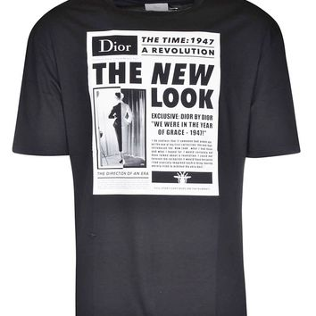 News Print T-Shirt by Dior