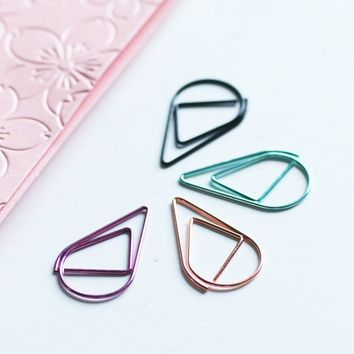 Free shipping 25 mm 50 pcs box 6 color ring binder clips colorful drop clips metal paper clips wire clips on sale