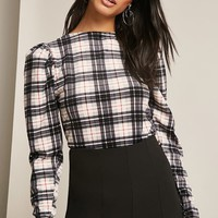 Velvet Plaid Top