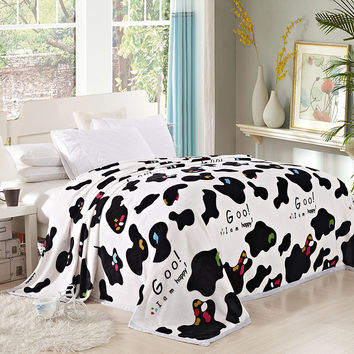 1pcs Beddom Bed Blanket Printed Soft Fleece Blanket King Size Soft Throw Blankets Luxury Towelling Coverlet X187