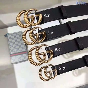 DCCK GUCCI Belt Top quality Women Fashion Jewellery Buckle Belt GG LOGO Leather Belt GUCCI Men Blet