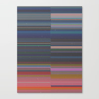 scanner stripes Canvas Print by duckyb
