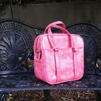 Samsonite Silhouette Marbled Pink Carry On Tote Bowling Bag Style