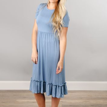 Ruffle Bottom Midi
