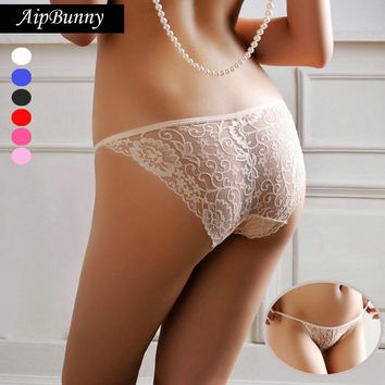 AipBunny Comfort Devotion Hips Push up Lace Sexy Transparent Charming Lady Panty