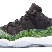 Air Jordan Retro 11 ' Green Night shade Snake Skin'