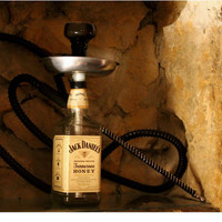 Chicha bottle Jack Daniels Honey 0,70cl with pipes Marrakesh XL 2.0