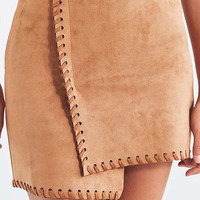 Haute Rogue Allison Whip Stitch Wrap Skirt | Urban Outfitters