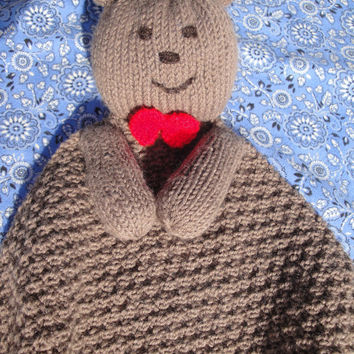 Beary Special Baby Lovie PDF Knitting Pattern, Bear Security Blanket by Girlpower (Baby Child Toddler)