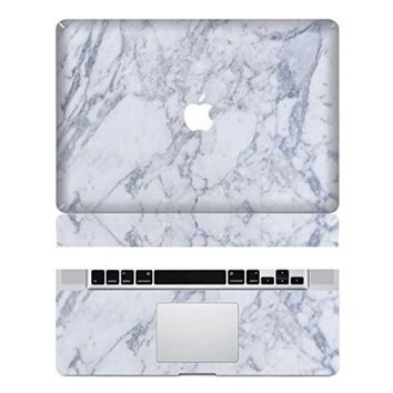 Marble Macbook Decals Macbook Skin Decal Stickers Macbook Top Decal Front Stickers