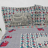 Elephant Stamp Queen Size Duvet Cover - Urban Outfitters