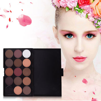 15 Colors Natural Long Lasting Pearly Eyeshadow Palette