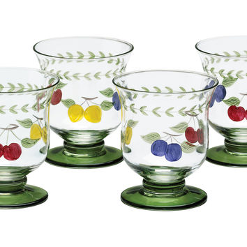 French Garden Tumblers, Set of 4, Tumblers, Water & Juice