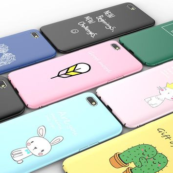 Luxury Fashion Words Colour Letter Image Fundas Matte Plastic PC Case for iphone 8 7 6s 6 plus Protector Covers Funny Cute capes