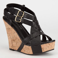 Diva Lounge Loretta Womens Wedges Black  In Sizes