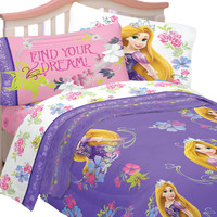 Disney Tangled Twin Bedding Set Rapunzel Princess Style Bed
