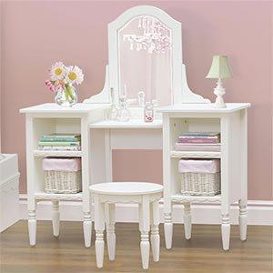 costco cafekid white bookcase vanity from home. Black Bedroom Furniture Sets. Home Design Ideas