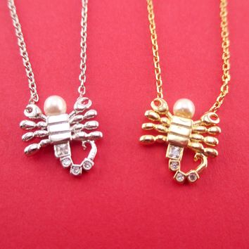 Scorpio Astrological Zodiac Scorpion Insect Bug Pendant Necklace