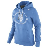 Nike North Carolina Tar Heels (UNC) Womens School Stamp Pullover Hoodie - Carolina Blue