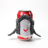 Whale Coffee Cozy, Animal Crochet Coffee Sleeve, Can Koozie, Humpback Whale Travel Cup Holder, Drink Cozy