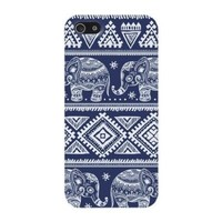 Blue Elephants Aztec Hard Case Cover Iphone 5c by Designer Cases