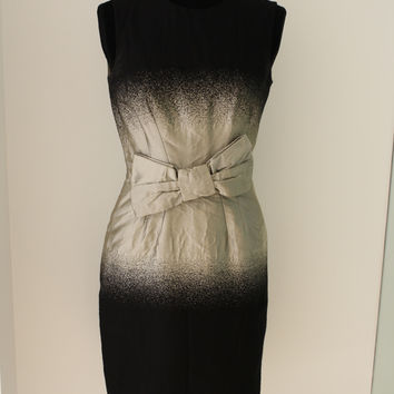 Prada Black And Silver Ombre Dress With Bw
