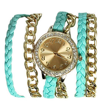 Braided Chain Wrap Watch | Shop Watches at Wet Seal