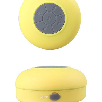 Waterproof Wireless Bluetooth Stereo Speaker Yellow